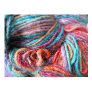 Rainbow Yarn Bundle Postcard