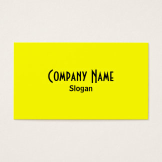 Rainbow Yellow Business Card