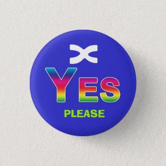 Rainbow Yes Please Scottish Independence Badge
