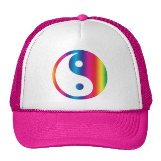 Rainbow Yin Yang Hat