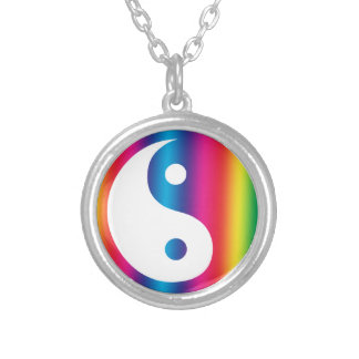Rainbow Yin Yang Necklace