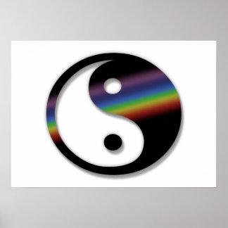 Rainbow Yin Yang Poster