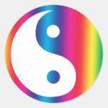 Rainbow Yin Yang Stickers