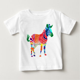 Rainbow Zebra Animals Monogrammed Pattern Party Tshirts