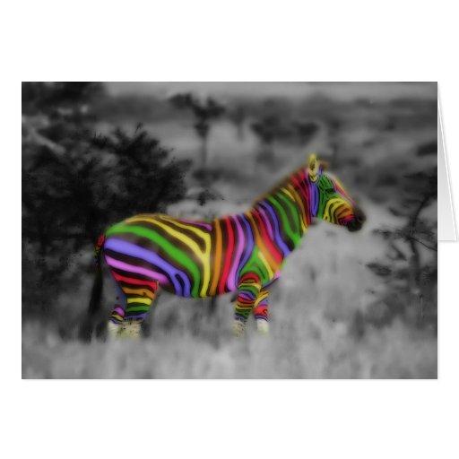 Rainbow Zebra Cards
