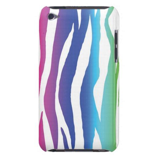 Rainbow Zebra Barely There iPod Cases
