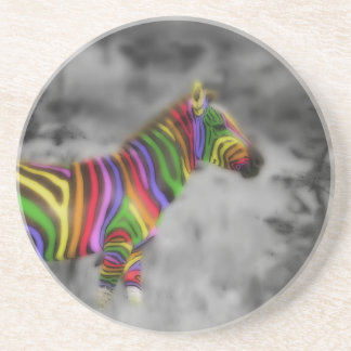 Rainbow Zebra Coaster