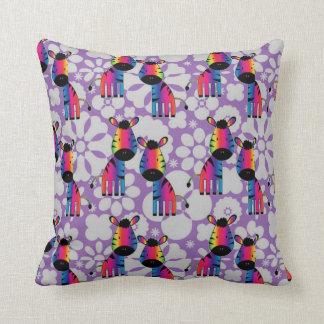 Rainbow Zebra Cushion