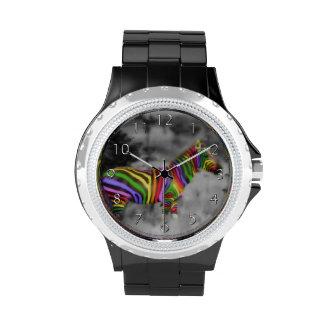Rainbow Zebra Wrist Watch
