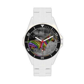 Rainbow Zebra Wristwatch