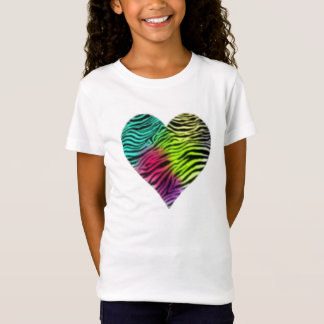 Rainbow Zebra Heart Tee