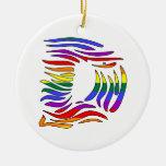 Rainbow Zebra Initials D