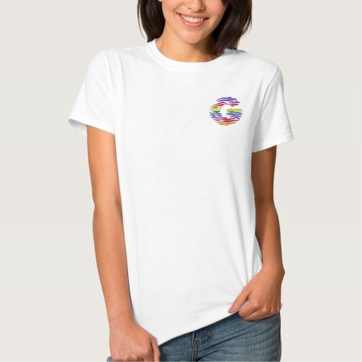 Rainbow Zebra Initials G T-shirt