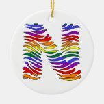 Rainbow Zebra Initials N