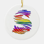 Rainbow Zebra Initials S