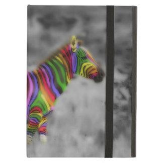 Rainbow Zebra iPad Folio Case