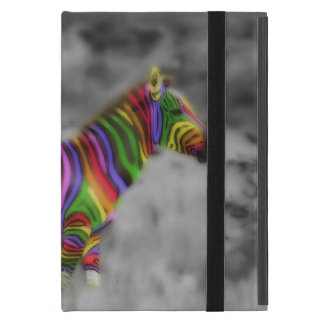 Rainbow Zebra iPad Mini Case