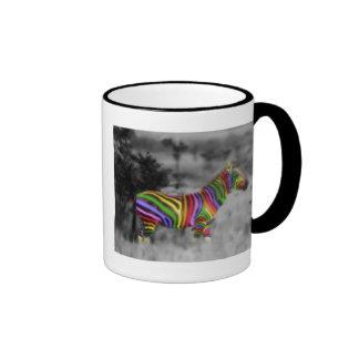 Rainbow Zebra Coffee Mugs