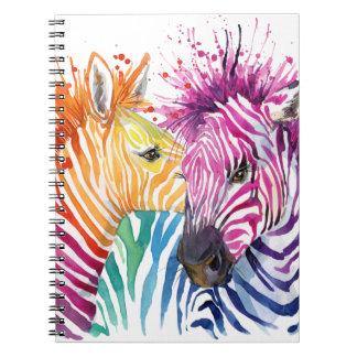 Rainbow Zebra Notebook
