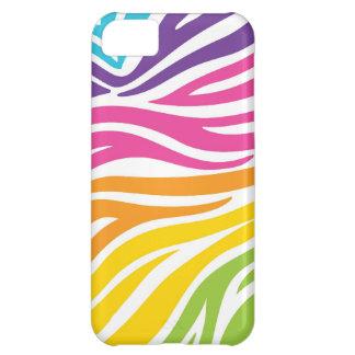 Rainbow Zebra Print iPhone 5C Cover