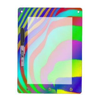 Rainbow Zebra Print Dry Erase Board