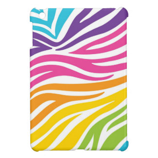 Rainbow Zebra Print iPad Mini Case