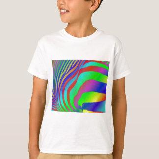 Rainbow Zebra Print Kids T-Shirt. T-Shirt