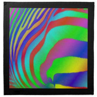 Rainbow Zebra Print Napkin