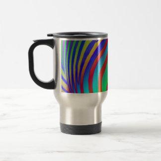Rainbow Zebra Print Travel Mug