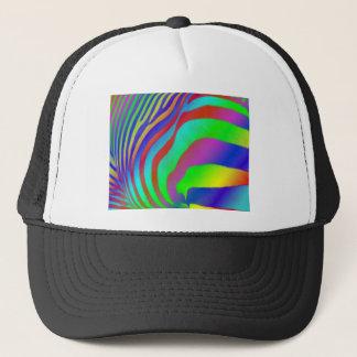 Rainbow Zebra Print Trucker Hat