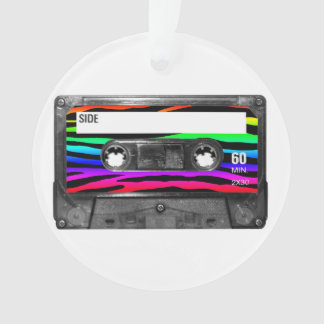 Rainbow Zebra Stripes Cassette Label