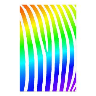 Rainbow Zebra Stripes Stationery