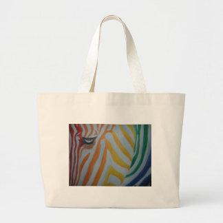 Rainbow Zebra Tote Bags