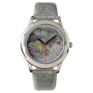 Rainbow Zebra Watch
