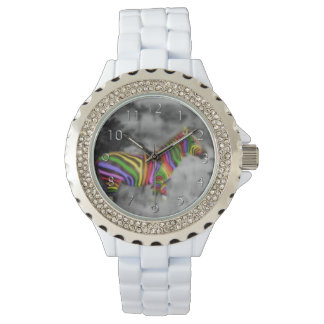 Rainbow Zebra Wristwatch