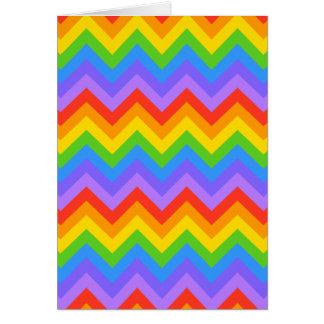 Rainbow Zig Zag Pattern Greeting Card