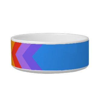 Rainbow Zig Zag Pattern. Part Plain Blue. Bowl