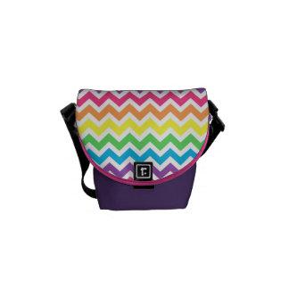 Rainbow Zigzag Messenger Bag