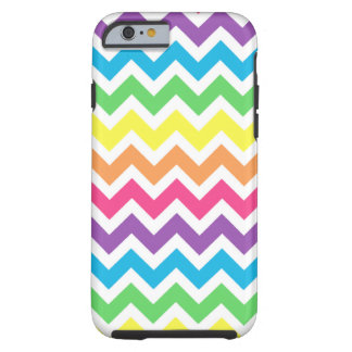 Rainbow Zigzag Tough iPhone 6 Case