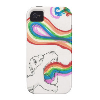 RainbowBreathingDinosaur iPhone 4/4S Cases