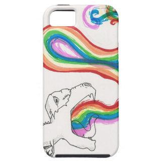 RainbowBreathingDinosaur iPhone 5 Case