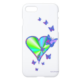 Rainbowheart and Butterfly iPhone 7 Case