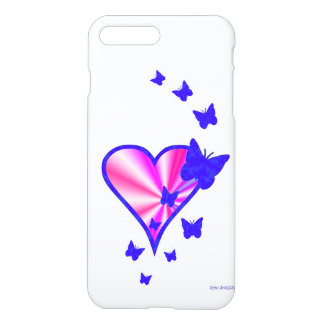 Rainbowheart and Butterfly iPhone 7 Plus Case
