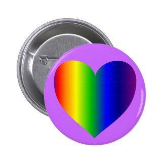RainbowHeart 6 Cm Round Badge