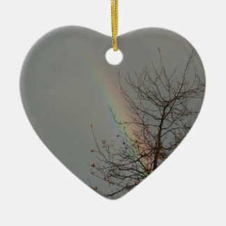 rainbowheart christmas ornament