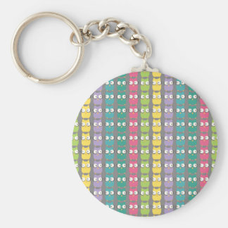 RainbOwls pattern keychan Key Chains