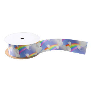 Rainbows and Clouds Ribbon Satin Ribbon