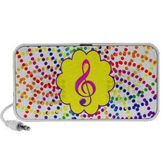 Rainbows and polka dots speaker. travel speaker