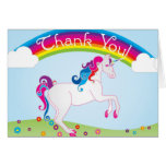 Rainbows and Unicorn Thank You Notes
