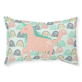 Rainbows and Unicorns Pet Bed